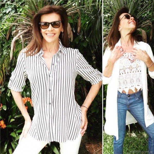 camisas largas para mujer Fabita verano 2018
