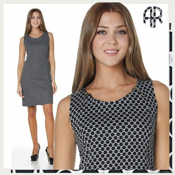 vestido gabardina elastizada para el dia entallado Anna Rossatti verano 2018