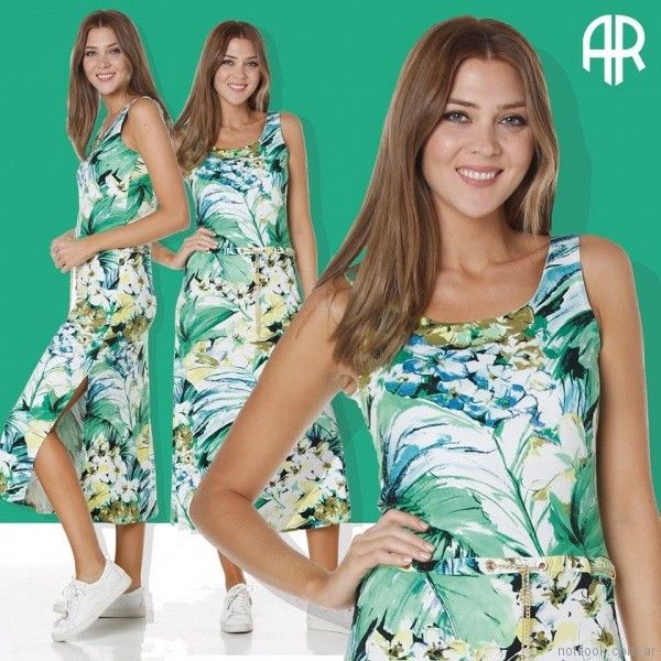 vestido largo estampa floral para el dia señoras Anna Rossatti verano 2018