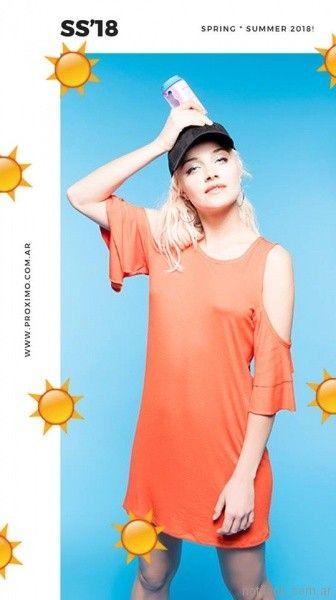 vestidos informales juveniles Proximo verano 2018