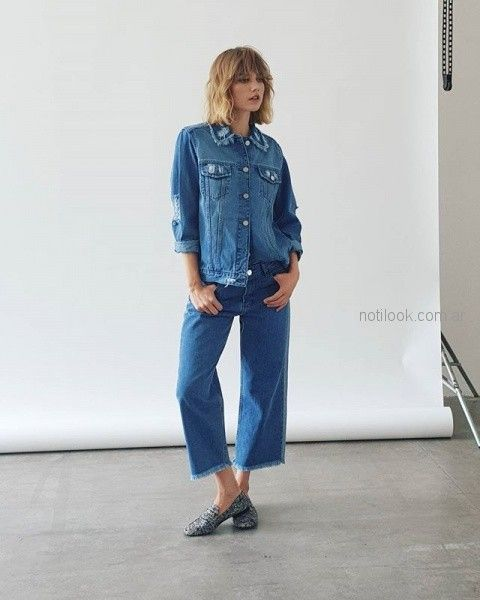 Look total denim - anticipo coleccion Koxis invierno 2018