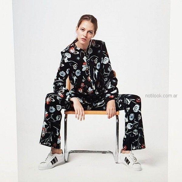 Portsaid camisa y pantalon estampados invierno 2018