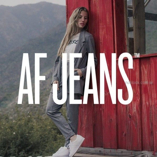 af jeans moda invierno 2018
