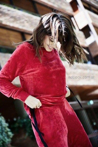 conjuntos de plush para grandes mujer Tramps otoño invierno 2018