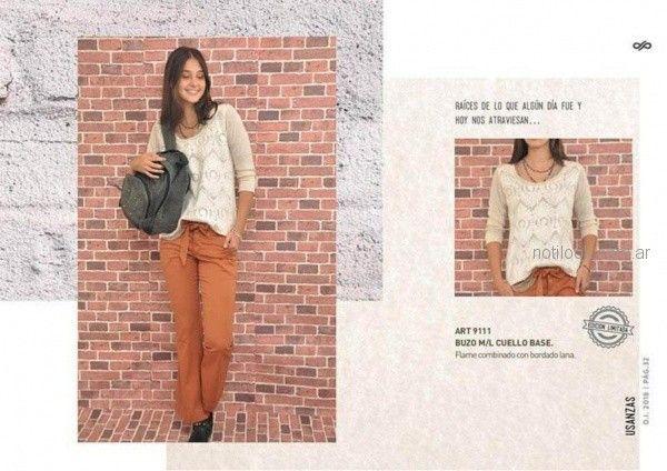 pantalon de gabardina para mujer invierno 2018 - Las Taguas