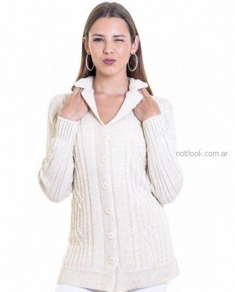 saco de lana tejido blanco Mauro sergio otoño invierno 2018