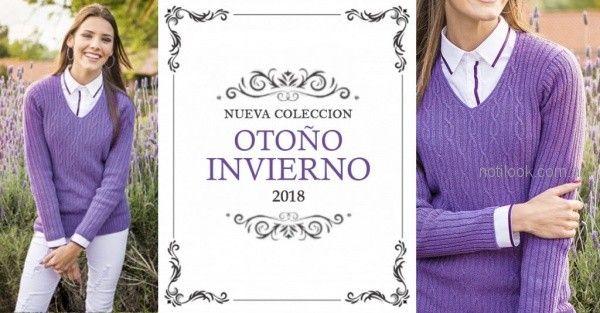 sweater escote en v mujer Mauro sergio otoño invierno 2018
