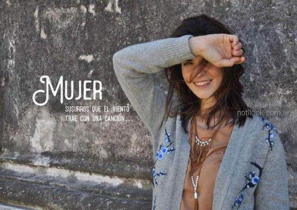 sweater tejido con bordados para mujer invierno 2018 - Las Taguas