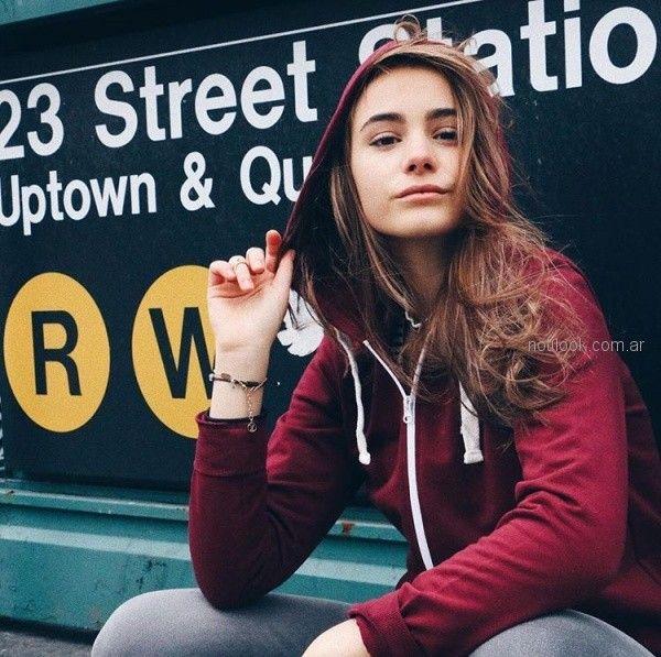 Campera de algodon colegial para adolescentes invierno 2018 - Como quieres que te quiera