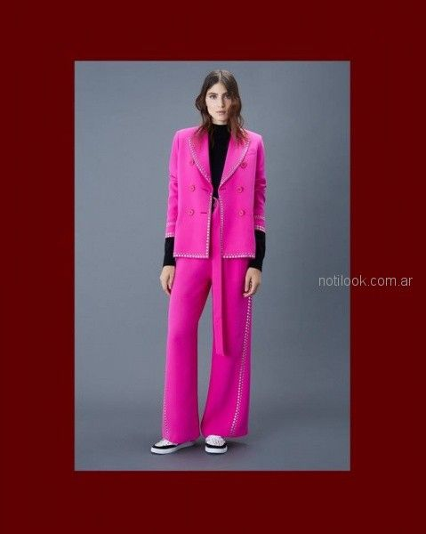 blazer rosa chicle Ginebra otoño invierno 2018