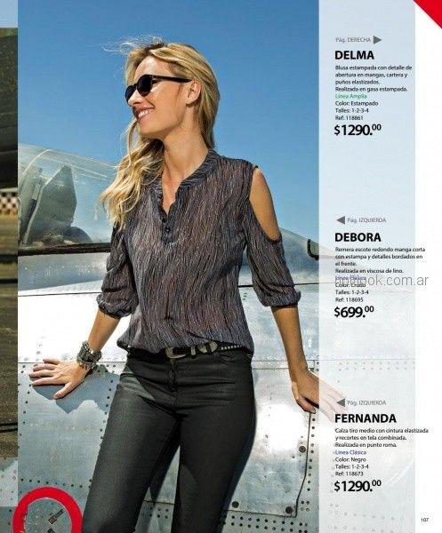 blusa con recortes en hombros martina di trento otoño invierno 2018