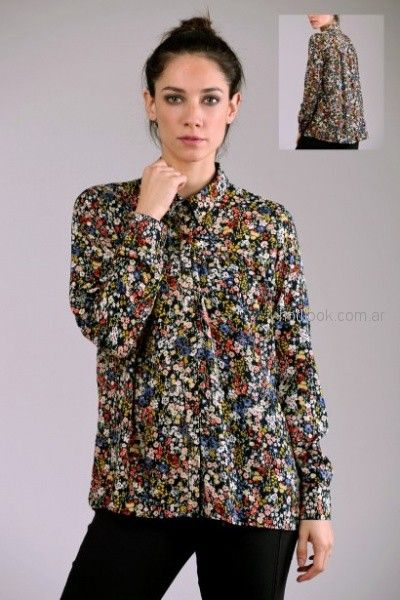 blusa mangas largas estampada Brandel otoño invierno 2018