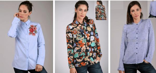 blusas y camisas mangas largas mujer brandel otoño invierno 2018