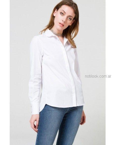 camisa blanca mujer Desiderata otoño invierno 2018