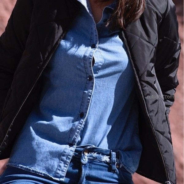 camisa de jeans para mujer invierno 2018 - kevingston