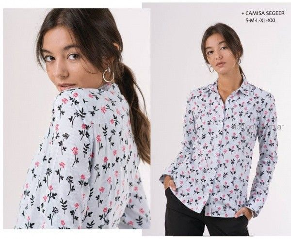 camisa floreada invierno 2018 - ONE Mujer