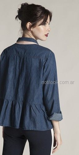 camisa jeans mujer Try me otoño invierno 2018