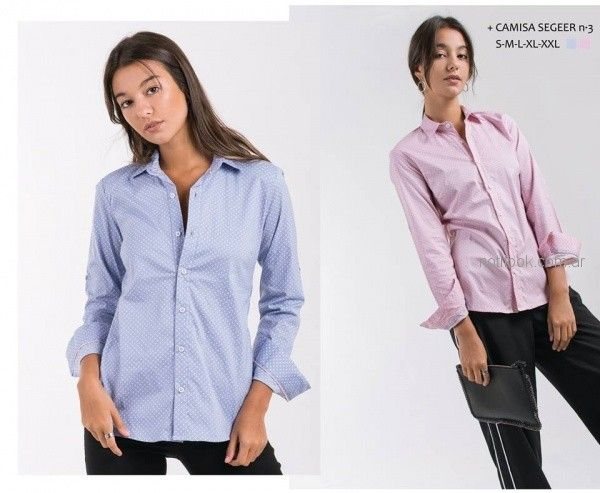 camisas a lunares para mujer invierno 2018 - ONE Mujer