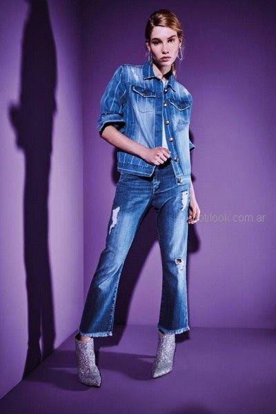 campera de jeans manga tres cuarta Maria Cher otoño invierno 2018