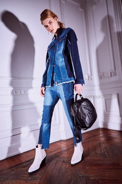 campera jean con recotes Maria Cher otoño invierno 2018