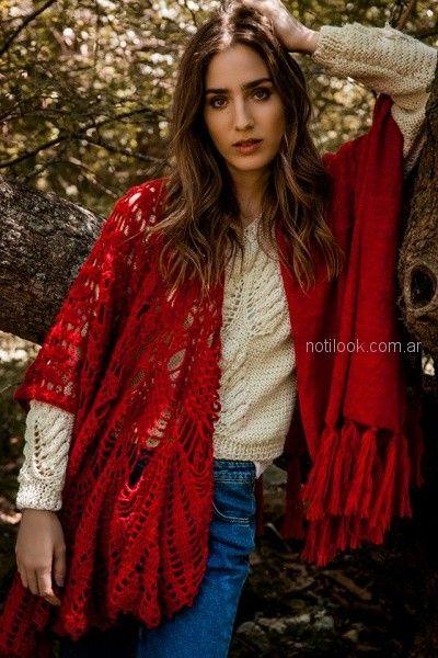 chal y buzo de lana tejido florencia LLompart otoño invierno 2018