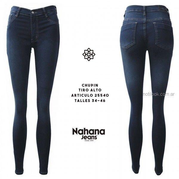 2ee275786e07 chupin elastizado tiro alto oscuro Nahana jeans otoño invierno 2018