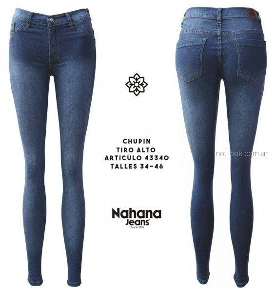 jeans tiro alto chupin en degrade Nahana jeans otoño invierno 2018