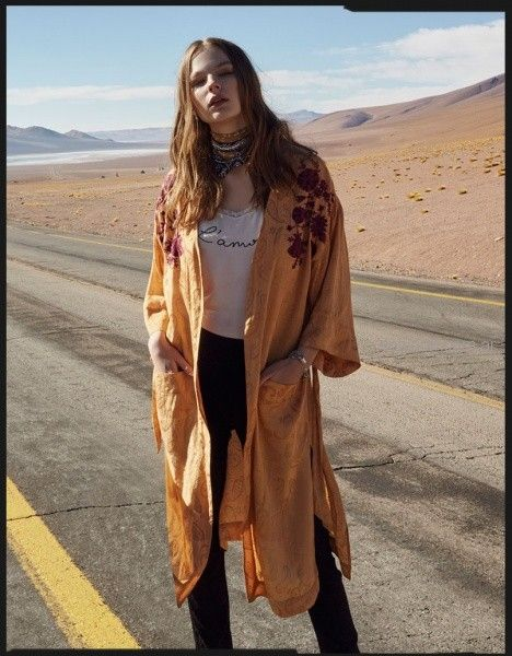 kimono largo bordado en hilos rapsodia otoño invierno 2018