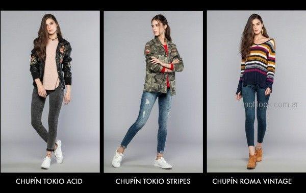 look mujer con jeans chupin Cuesta blanca otoño invierno 2018