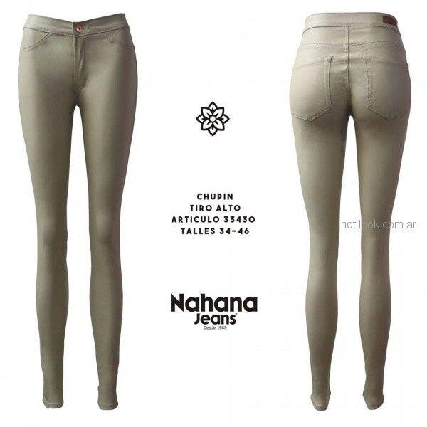 pantalon chupin engomado Nahana jeans otoño invierno 2018