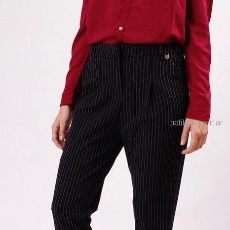 pantalon de vestir a rayas para mujer invierno 2018 - kevingston