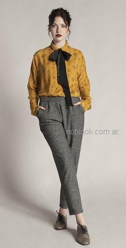 pantalon plisado mujer Try me otoño invierno 2018