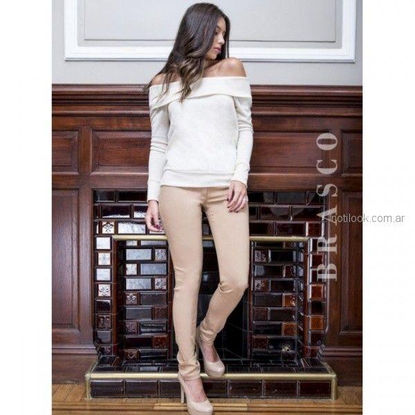 pantaon de gabardina chupin elastizado Brasco otoño invierno 2018