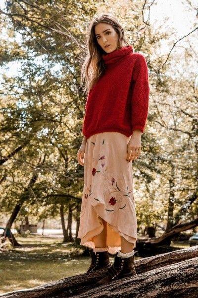 poleron lana tejido florencia LLompart otoño invierno 2018