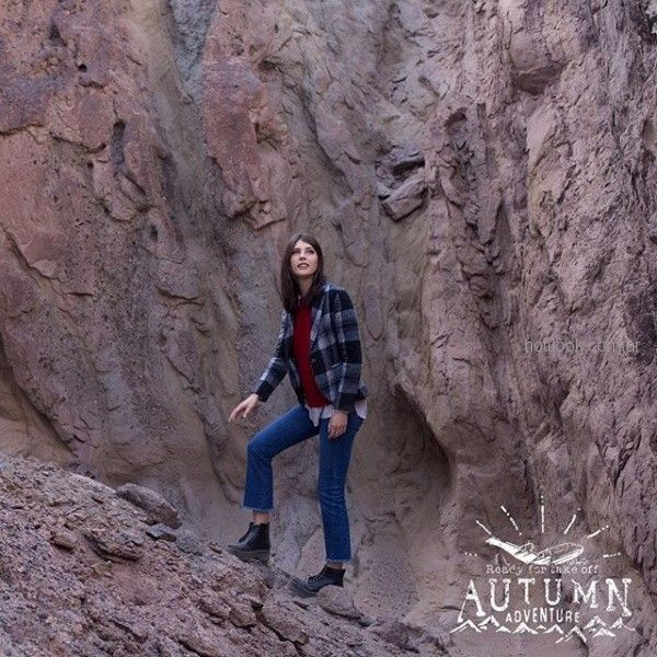 saco a cuadros y jeans para mujer invierno 2018 - kevingston