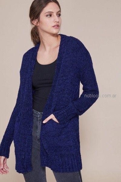 saco largo lana gamuzada tejido mujer Estancias chiripa otoño invierno 2018 - copia - copia