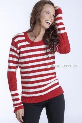 sweater a rayas mujer Nuss tejidos otoño invierno 2018