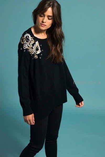 sweater bordado juvenil Doll Store otoño invierno 2018