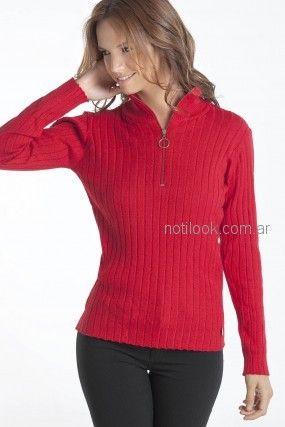 sweater con cierre en el cuello Nuss tejidos otoño invierno 2018