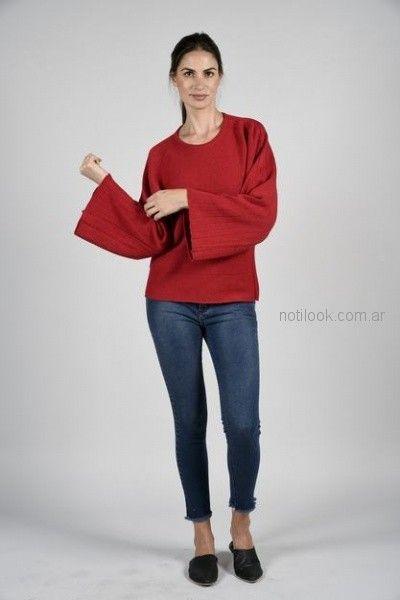 sweater lana mangas oxford nucleo otoño invierno 2018