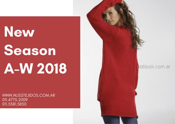 sweater largo Nuss tejidos otoño invierno 2018