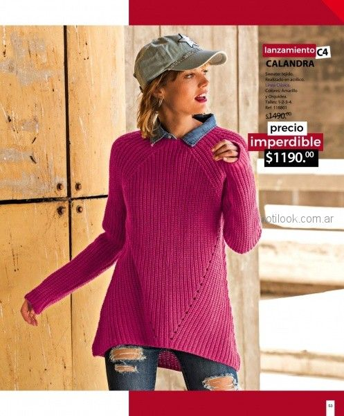 sweater tejido mujer martina di trento otoño invierno 2018