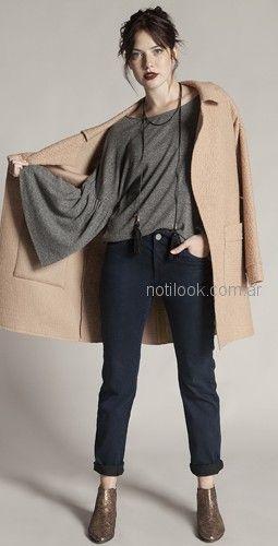 tapado de paño y remera mangas oxford Try me otoño invierno 2018