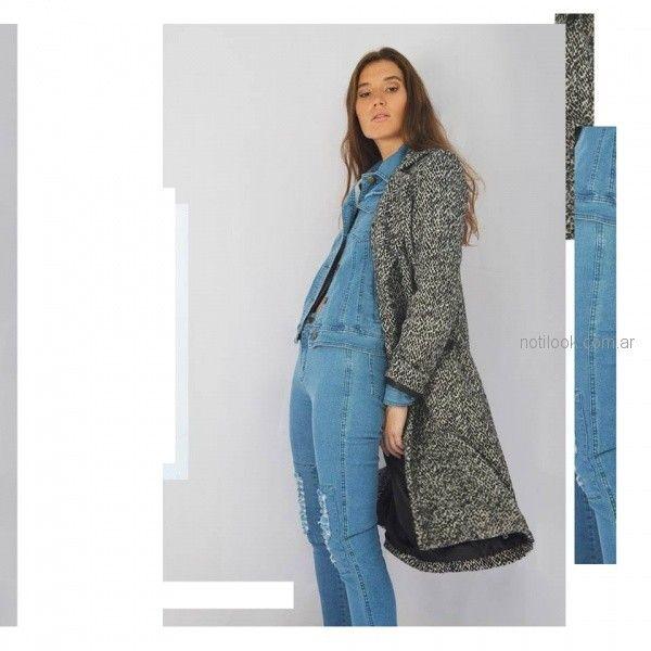 tapado de tela tejida lana abrigado zulas otoño invierno 2018