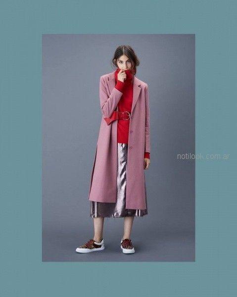 tapado largo rosa viejo Ginebra otoño invierno 2018