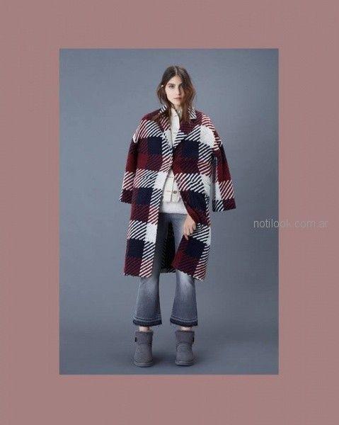 tapado tejido escoces Ginebra otoño invierno 2018
