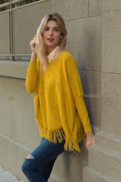 Cuesta azul - Sweater amarillo tejido invierno 2018