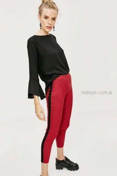 Pantalon de bengalina con recorte en los laterales invierno 2018 Sweet