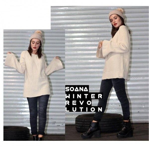 Soana - Sweater para adolescentes mangas acampanadas invierno 2018