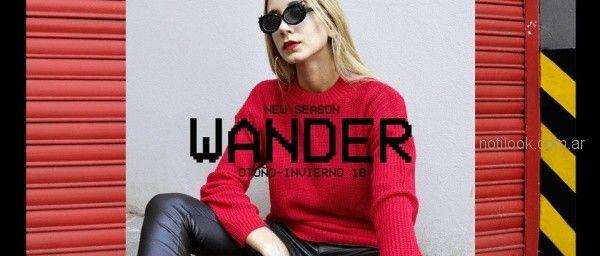 Sweater tejido rojo invierno 2018 a lo juana indumentaria
